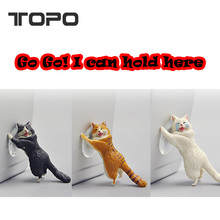 Lovely Animal Gifts Resin Cat Sucker Stand mobile phone holder for iPad for smart phone