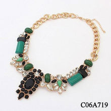 Explosion models in Europe and America super luxurious colorful emerald necklace C06A719