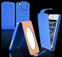 New Mirror Shine Flip PU leather case For iphone 5 5G