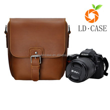 real leather camera bag/vintage style camera bag/genuine leather camera case