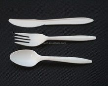 Popular Cornstarch Disposable Family party Cutlery Set, Spoon,Fork,Knife
