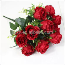 Best silk rose flower for wedding decoration flower