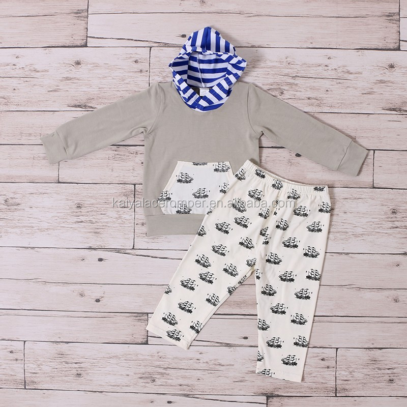 Wholesale Newborn Baby Boy Clothes Long Sleeve Baby Boy Clothing Set With Hat