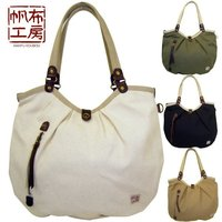 Sturdy quality #4 cotton canvas tote bag for unisex with bright color inner