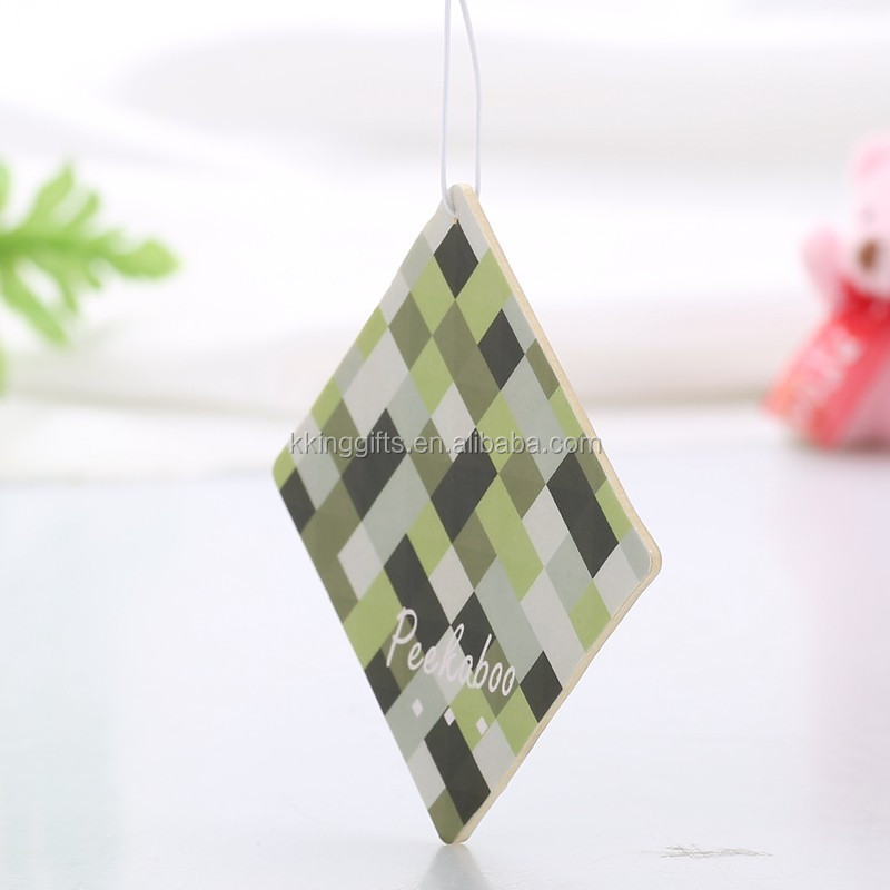 2015 Scented Guangzhou lemon hemp air freshener paper fregrance air freshener paper for promotion
