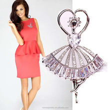 Wholesale Bulk Awesome Ballet Dancing Girl Brooch for Wedding Dress