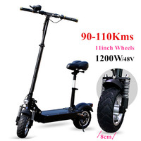 2018 Newest on Road Electric Scooter with seat for adults 48V 500W 1200W motor 110km powerful big wheel Foldable Electro Bicycle