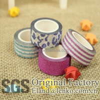 Wholesale 15mm*5m pretty pasty glitter tape decorative tape pressure sensitive tape