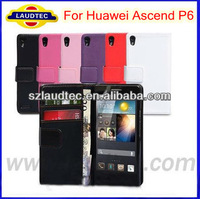Laudetc Wallet Case For Huawei Ascend P6,For Huawei P6 Case Made in China