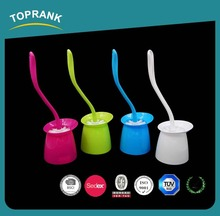Toprank Wholesale Cleaning Product Cleaning Tools Brushes Plastic Round Toilet Brush Set With Toilet Brush Holder