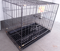 Pet Crate Dog Cat Folding Cage Home Training Large Wire Kennel W/ABS Tray Bird