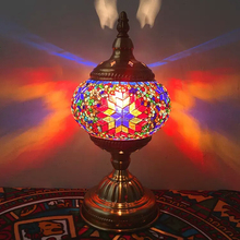 Luxury Classic Turkish Table Lamps Glass Handicraft Decorate Mosaic Desk Lamp Turcome Gustaria Home Hotel Bedroom