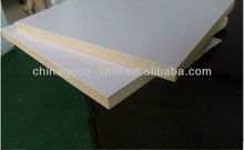 white HPL plywood, 18mm plywood with HPL