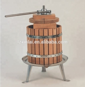 12L stainless steel screw manual hand basket pear apple cider grape wine fruit press machine