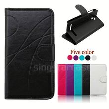 wallet leather case for huawei ascend p6 back cover