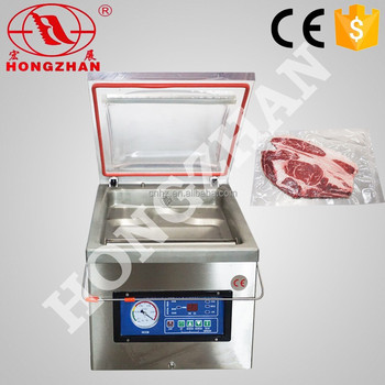 price for hongzhan DZ300 stianless steel vegetable fruits single chamber rice vaccum sealer