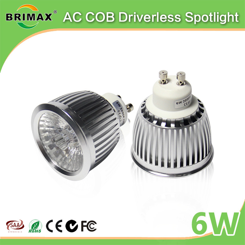 BRIMAX 110V 220V dimmable CE Rohs 3000k 4000k 6000k GU10 LED <strong>bulbs</strong> 6W GU10 LED spotlight