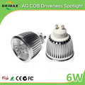BRIMAX 110V 220V dimmable CE Rohs 3000k 4000k 6000k GU10 LED bulbs 6W GU10 LED spotlight