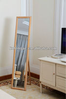 Natural Wood Framed Photo Dressing Mirror