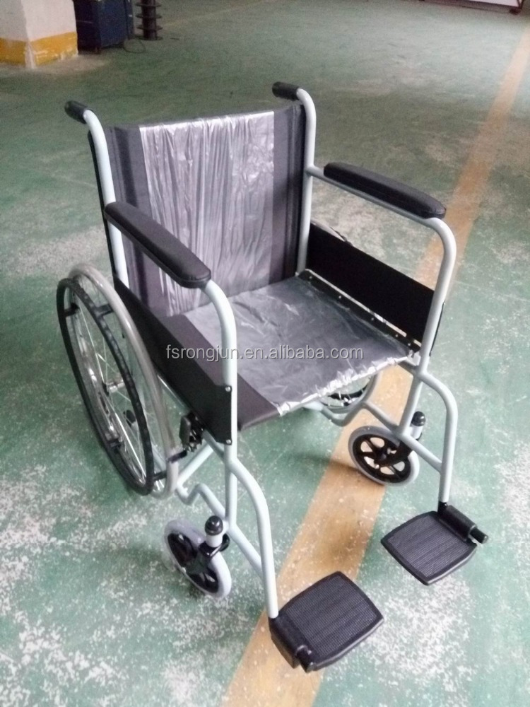 heavy duty hand wheelchair dubai for disabled adult foldable wheelchair RJ-W875