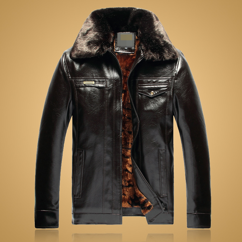 China Market Extrem Winter Faux Short Fur Synthetic Leather Jackets