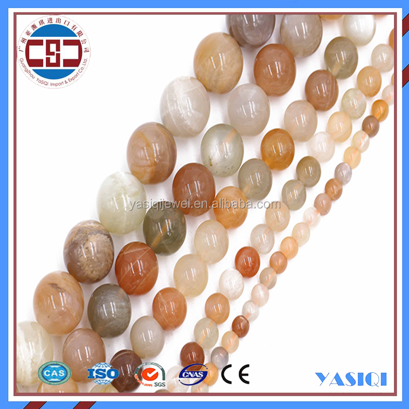 Natural Stone Beads 4mm 6mm 8mm Loose Bead Rainbow Moonstone Beads