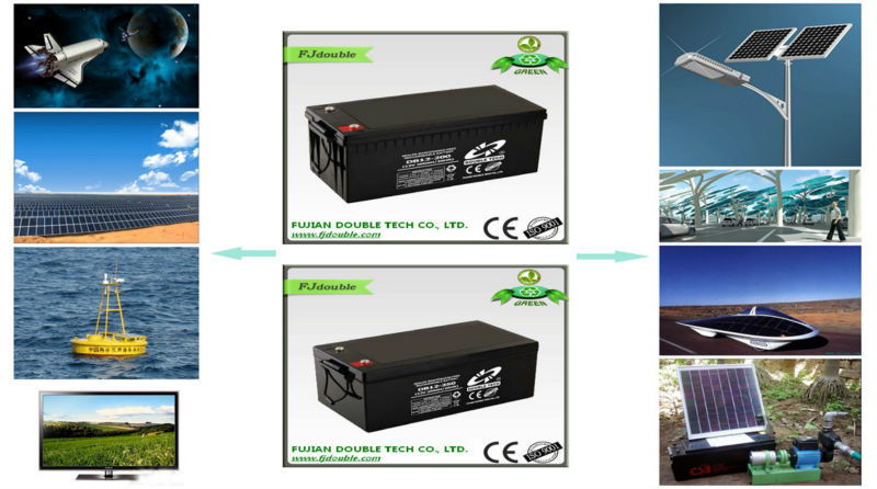 Low self-discharge 12v 200ah gel deep cycle battery by factory supplied