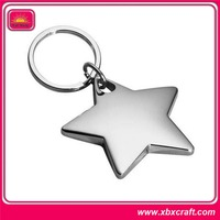 New design keyring starfish custom metal keychain