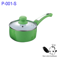 Aluminum ceramic coating non stick sauce cooking pan