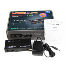 3D 2 way/port HDMI splitter 1 in 2 out, A/V Audio Video Splitter 1x2