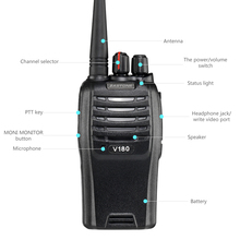 2017 hot sell 7 watts ZASTONE V180 UHF 400-470MHz frequency walkie talkie 2 way radio
