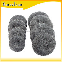 Kitchen pot steel mesh scourer