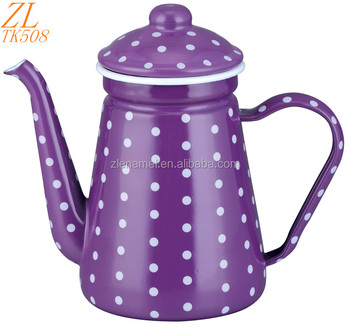 0.9L Enamel Coffee Pot Enamel Teapot Enamel Coffee Warmer