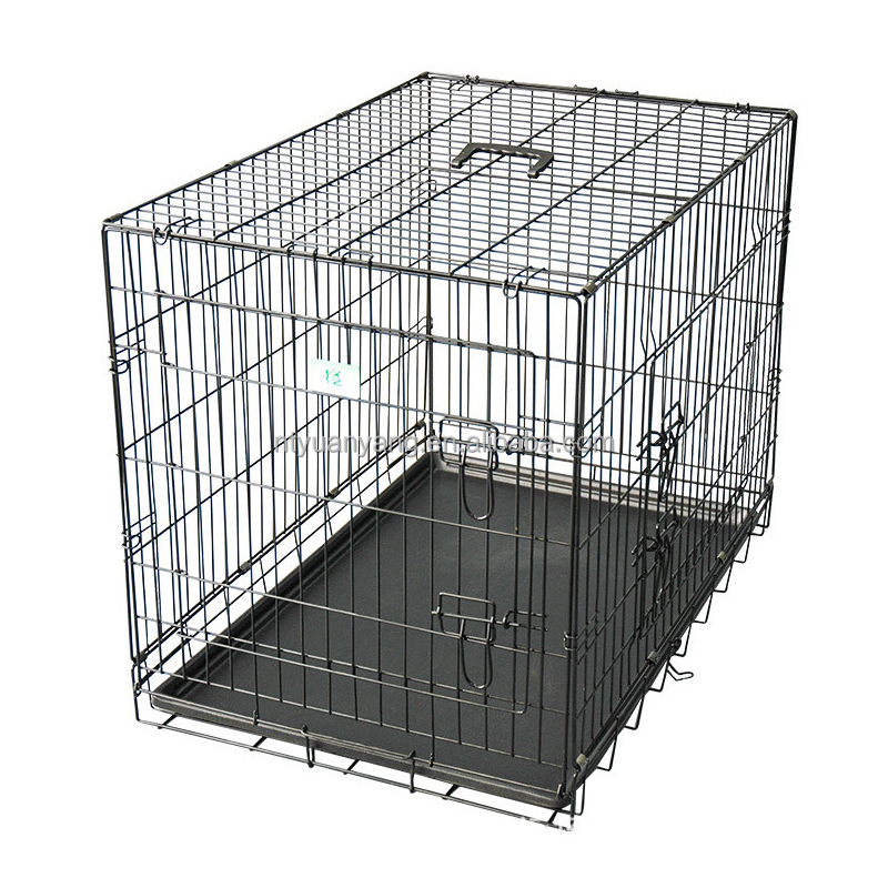 animal metal outdoor black modular dog kennel