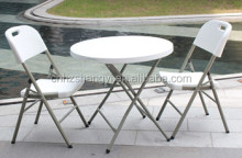 adjustable plastic round folding table