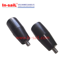 Tapered Cylindrical revolving handles with threaded stud