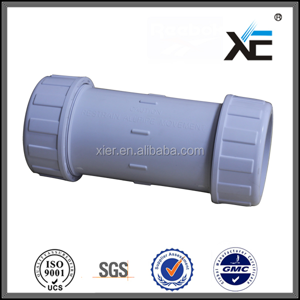 XE UPVC pipe and fitting PVC Compression Coupling pvc water pipe