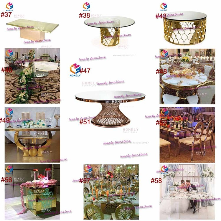 Wholesale used stainless steel dining table and chair sets