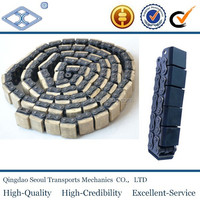 DIN ISO standard pitch 12.70 steel rubber roller duplex conveyor chain 08B-G2