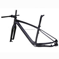 "new 29ER Full carbon UD matt mountain bike frame MTB 15.5""17.5""19""21"" with fork, seat post, headset,stem and handlebar M01 model"