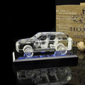 3D crystal car model for souvenir gift