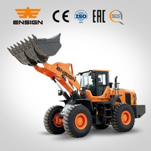 Heavy equipment 5 ton , 3 cubic meter loading capacity ENSIGN YX657 wheel loader with ZF transmission