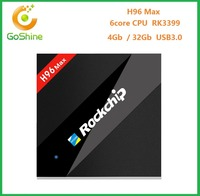 goshine 4G/32GB tv box H96max download user manual android 6.0 H96 max support internet tv box from China supplier with good pri