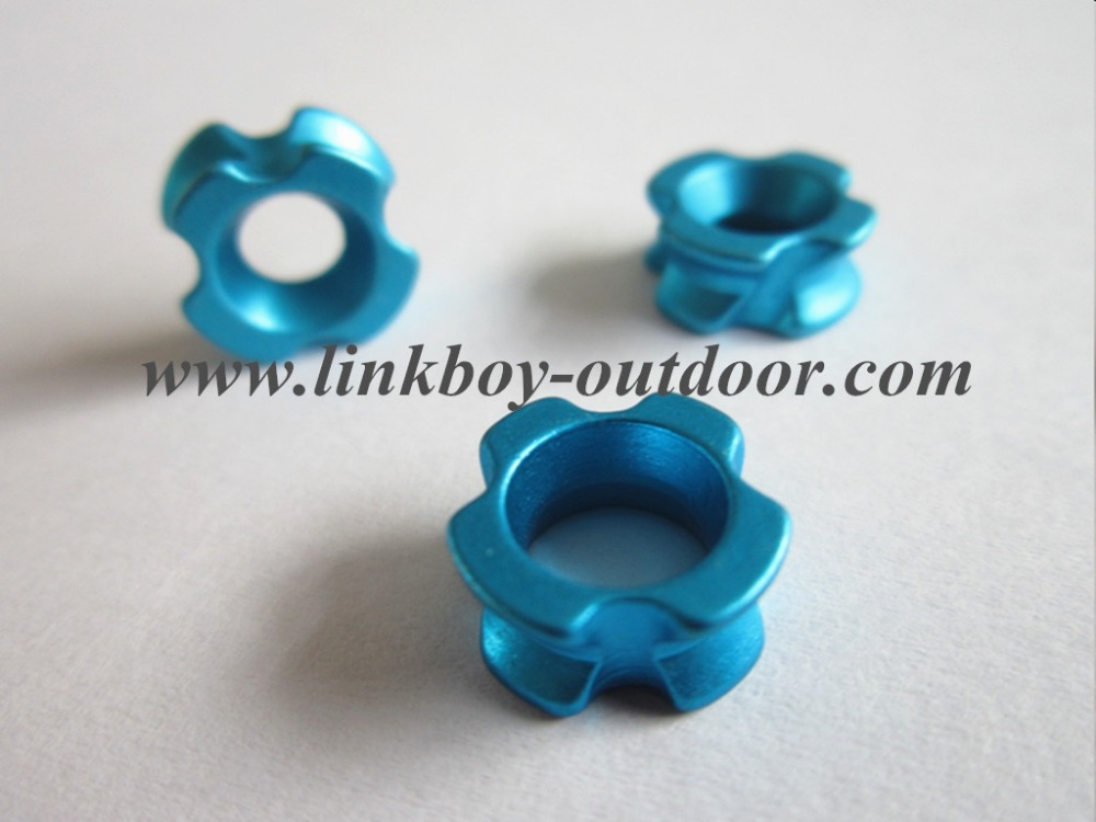 "Linkboy New Archery 3/16"" blue AL peep sight for compound bow hunting"