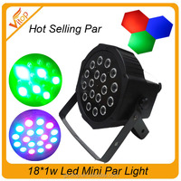 led flat par light18x3W RGB mini led stage light 18*3W