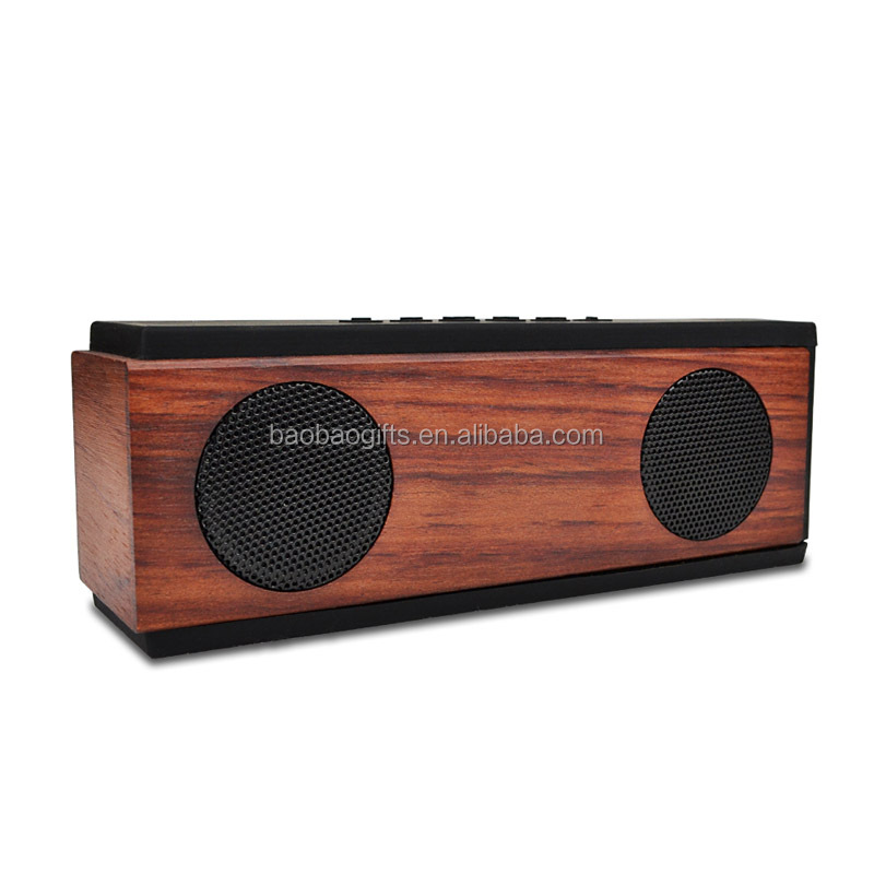 High quality wireless wooden bluetooth speaker 2017 new arrival