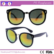 Wholesale Custom Mirror Lens Big Frame Bertha Sunglasses