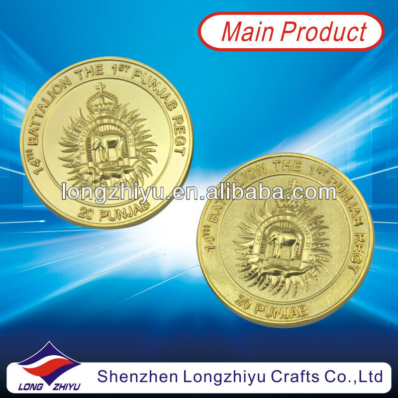 Customized design novelty coin/commemorative replics coins medallion/imitation gold coin medal wholesaler in China