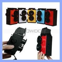 Science DIY Toy Retro Camera Film 35mm Twin Lens Reflex TLR Camera DIY Lomo Camera