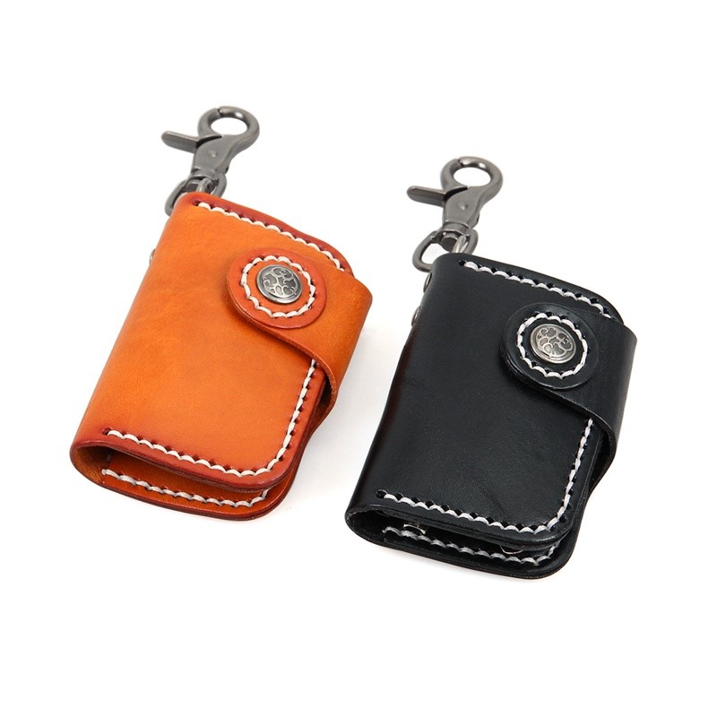 8131A J.M.D Black Genuine Leather Car Key Bag Manufacturer In China